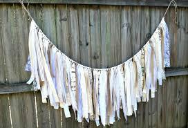 wedding backdrop linen burlap linen and lace garland rustic wedding garland backdrop