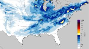 Florida Map East Coast Winter Storm Inga Brings Snow Ice To The South And East Snarls