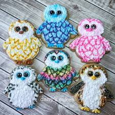 beanie boo cookies izzys party plans biscoito