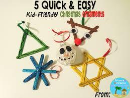 5 easy kid friendly ornaments