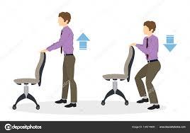 exercice au bureau exercices de sport pour le bureau image vectorielle inspiring