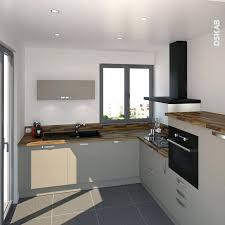 plan cuisine l prise electrique design cuisine cuisine gris taupe en l