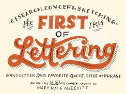 the first steps of hand lettering concept to sketch lettering i