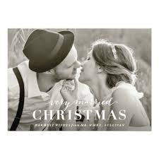 married christmas cards married christmas newlywed card invitation card