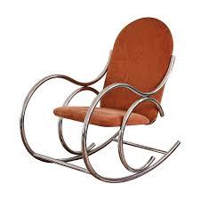 Rocking Chair George Jones Vintage Mid Century Mod Chrome Tubular Rocking Chair On The Highboy