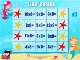 Multiplication Table Games by Printable Multiplication Game Line U0027em Up 2x To 12x Tables