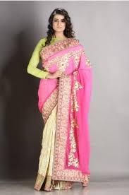 dhakai jamdani saree buy online buy sarees online benarasi dhakai jamdani chiffon sarees