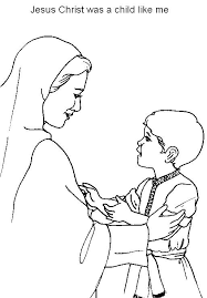 jesus child coloring coloring