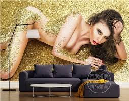 nackt im wohnzimmer goldene nackte frauen tapete 3d luxus wand mural schlafzimmer