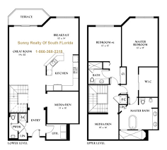 two floor plan floor plans of two houses house plan
