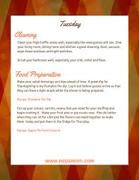 thanksgiving dinner preparation checklist for a stress free