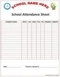 Weekly Attendance Sheet Template Classroom Attendance Sheets Class Attendance Sheets Excel