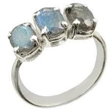 sterling gem rings images Sterling silver 3 gem labradorite ring size 8 1 pc jpg