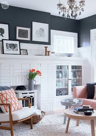 house tour modern eclectic family home charcoal walls