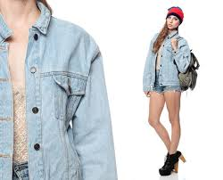 light wash denim jacket womens jordache jean jacket 80s denim faded oversized light wash up