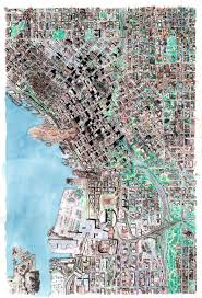 Downtown Seattle Map by Tony Dowler Seattle Doomsday Map