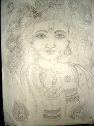 pencil drawings of lord krishna pencil sketch of lord krishna