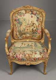 Antique Chair Styles by Louis Xv Giltwood Fauteuil With Original Beauvais Tapestry French