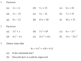 expanding algebraic expressions worksheets worksheets