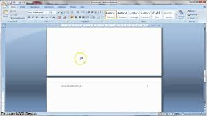 apa formatting 6th edition in ms word youtube