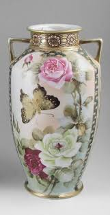 Porcelain Flower Vases Fukugawa Japanese Porcelain Vase Imperial Fine China Bone Cobalt