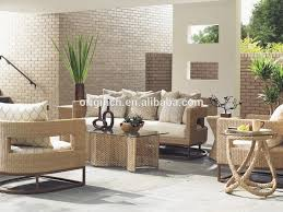 Designer Unique Style Synthetic Rattan Sofa Set With Scatterback - Furniture manila