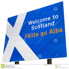 welcome to scotland sign stock photo image of signpost 21088688