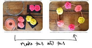 flower headbands diy diy hippy flower headband serre tête à fleurs clones n clowns