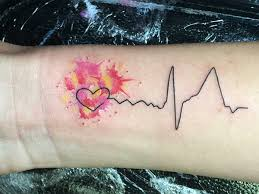 heartbeat tattoo with infinity heartbeat tattoo design ideas for men and women tattoos art ideas