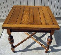 Oak Bistro Table Antique Solid Oak Jacobean 5ft Drawleaf Dining Pub Table