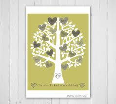 family tree print retro heart typography personalized family