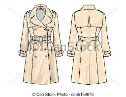 drawings of fashion plate trench an accurate technical fashion