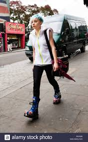 British Flag Boots London Camden Town Lock Stables Market Pretty Young Punk