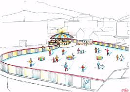 Backyard Ice Rink Plans by Outdoor Ice Skating On Synthetic Floor Attractive Interior