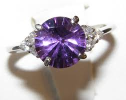 amethyst engagement ring custom by concave brilliant faceted amethyst h diamond ring 14kwg 1 83ctw