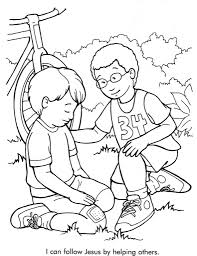 peter and dorcas coloring page eson me