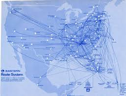 Air France Route Map by Eastern Airlines Airline Route Maps Pinterest Travel Posters