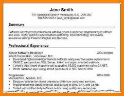 executive resume summary examples samples of resume summary