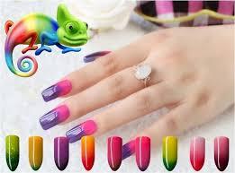 durable in use 10ml chameleon temperature change nails gelpolish