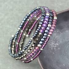 make beaded bracelet wire images How to make memory wire beaded bracelet blitsy jpg