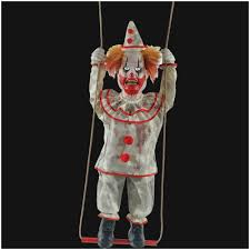 animated props spooky swinging clown doll animated prop mad about horror