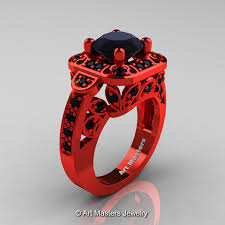 com red rings images Art masters classic 14k red gold 2 0 ct black diamond engagement jpg