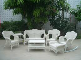 White Wicker Outdoor Patio Furniture Marvelous White Outdoor Furniture Set New In Charming Wicker