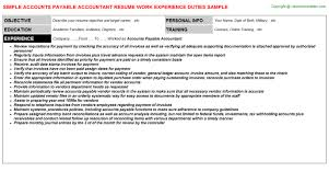Accounts Payable And Receivable Resume Accounts Payable Receivable Resume Objective Wood Promptly Ga