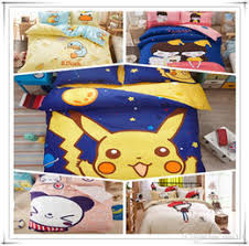 Pikachu Comforter Set Discount Pikachu Bedding 2017 Kids Bedding Pikachu On Sale At