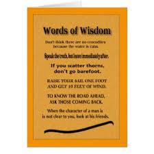 Words Of Wisdom Cards Words Of Wisdom Greeting Cards Zazzle
