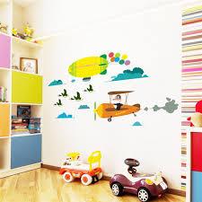 stikers chambre enfant animaux ville oiseaux d autruche avion diy enfants bébé chambre