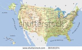 map of united states with states and cities labeled highly detailed map united states cities stock vector 383181574