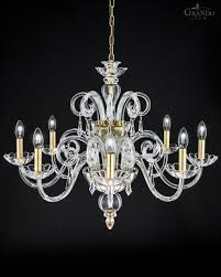 Handmade Chandelier by 122 8 Ch Gold Leaf Crystal Chandelier With Swarovski Spectra