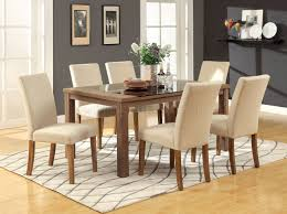 cm3565t sundance 5pc dining set light oak w ivory fabric chairs
